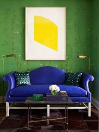 Lapis Lazuli Sofa | photo Lucas Allen | design Miles Redd | House & Home