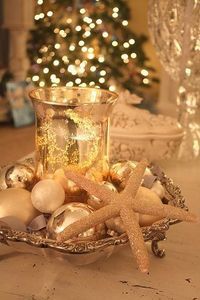 Merry Christmas! love the gold, with the white and silver, and starfish