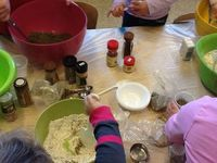 Pretend Cooking-lots of flour and spices..