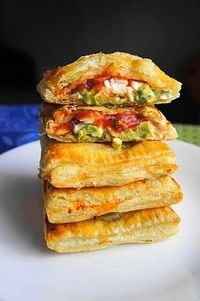 Avocado, Cream Cheese, and Salsa Pockets - Click image to find more popular food & drink Pinterest pins