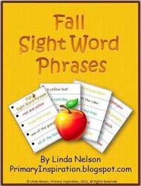 FREE set of autumn sight word phrase cards. Improving your students' fluency rate, phrasing, and expression will improve their comprehension!
