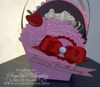 SU Petal Cone Die - cute cup cake holder or gift box