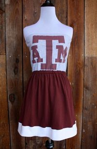 Texas A Aggies Strapless Game Day Dress on Etsy by jillbenimble