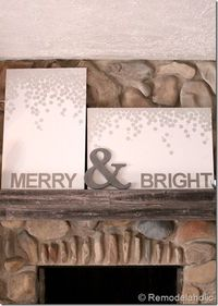 Mantel Christmas Project