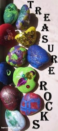 Treasure Rocks. Where sensory craftiness and creativity meets imagination...