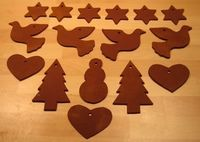 cinnamon dough ornaments - they make the house smell SO good!