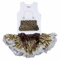 Glitzy Cheetah Purse Tutu Set