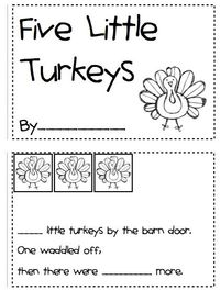 Kindergarten Fever: Thanksgiving Printables