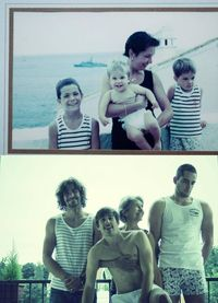Remaking a picture years later. Super cute