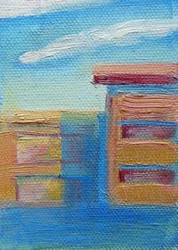 ACEO PRINT contemporary painting Oil.. sweet art by
