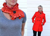 Sew a ruffled scarf tutorial