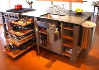 Pull out shelves for pots and pans