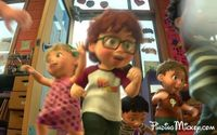 The next time you watch Toy Story 3 look for this little kid with a Lightning Mcqueen t-shirt :)