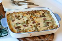 Green Lasagne with Stracchino, Artichokes and Sausage: How to make Green Lasagne with Stracchino, Artichokes and Sausage, a delicious main dish for any spe...[read more at Food Frenzy]