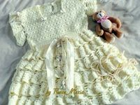 Delicate Baby Dress with Volants free crochet pattern