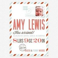 design lovers Birth Announcements