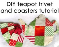Make a lovely patchwork trivet and coaster set for tea time with this free pattern and clear tutorial from hello-refabulous.