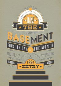 Baby Jupiter - In the Basement 2012 By Danny PiG // #typography