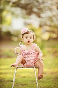 Light Pink Romper And Lace Flower Headband or by DemiBlairCouture, $22.00