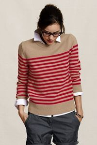 Women's Striped Crewneck Sweater