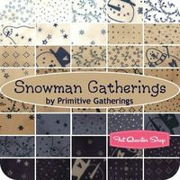 Snowman Gatherings Fat Quarter Bundle Primitive Gatherings for Moda Fabrics