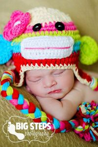 Candy Land Sock Monkey Hat...love this one too