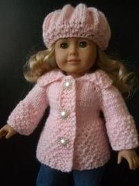 Beginner Knitting Pattern fits American Girl 18�€ Doll, with video