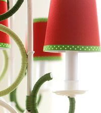 Colorful Chandelier Covers