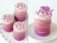 Purple Ombre Mini Cakes for wedding or baby shower