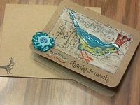 Handmade Card Stamped Card Thank You Card by #papercraftersnook