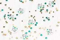 Save the Date - DIY New Year's Eve Confetti #wedding #newyears #diy #craft #stationery