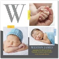 Boy Photo Birth Announcements