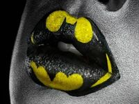 Batman lips.