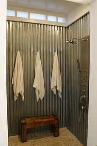 galvanized metal shower