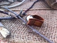 Leather & Hammered Copper Ring with Silver by EllaJudeDesigns, $42.00
