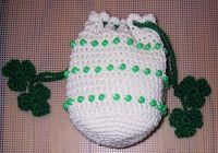 MY BEADED SHAMROCK BAG free crochet pattern