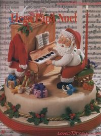 "Cake tutorial ""Santa Claus playing piano"""