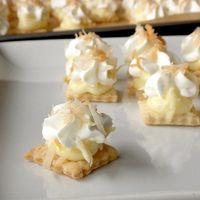 Bite-Size Coconut Cream Pie - Click image to find more Food & Drink Pinterest pins