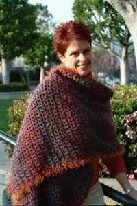 Easy Free shawl pattern Mother's Fashion Stole by Sedruola Maruska
