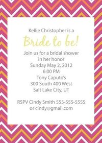 Bridal or baby Shower Invite Printable. $4.00, via Etsy.