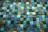 water color batik quilt