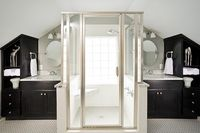 For the dormer space bathroom. I think I'd want the door frameless though.