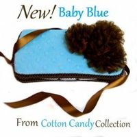 Cotton Candy Baby Blue Travel Wipes Case