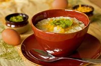 Grits and Green Chile: A delicious bowl of creamy grits, with New Mexico green chile and a little cheese. Soon to become y...[read more at Food Frenzy]