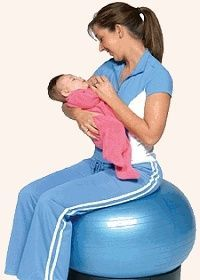 Birth ball with stand
