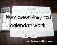 Montessori-inspired calendar work {and a printable}