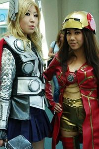 Lady Thor and Iron Women - SDCC 2012 - Aggressive Comix