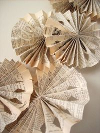 Beautifully Elegant Paper Fan Flower Garland -- Cut Outs.