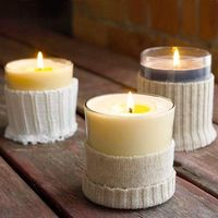 Sweater-Wrapped Votives