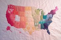 Crazy Old Ladies Quilts: Project -- us map